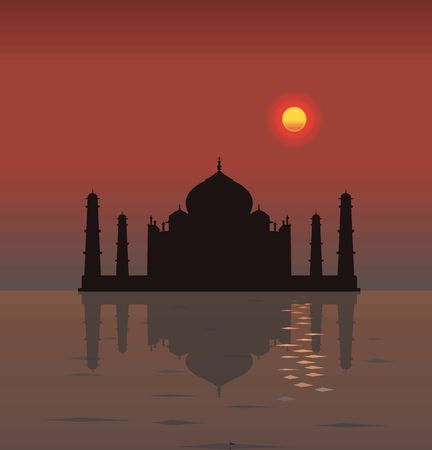 mumtaz: Taj Mahal Water Reflection Illustration !