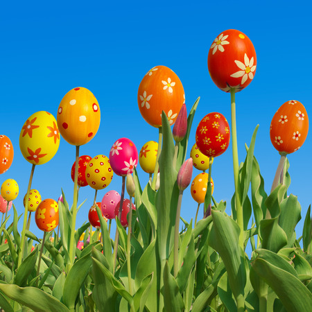 hybridization: Funny tulips; Happy Easter; Composing