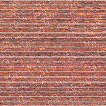 Nahtlose roten Backsteinmauer Textur Standard-Bild - 42660837