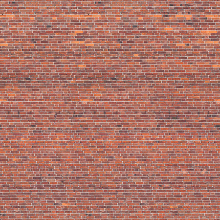 Seamless red brick wall texture Stock Photo