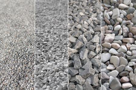 Verscheidenheid van kiezelstenen; Vier verschillende meningen van grind; Bouwmateriaal
