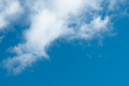 clime: Cirrostratus clouds at blue sky; Cloud formation at summer sky; Cloudscape Stock Photo
