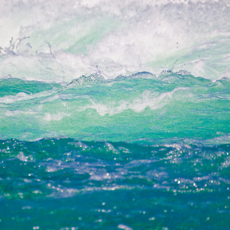 Wavy water in different colors - blue, turquoise and white; Foaming water; Base element; Wavy water