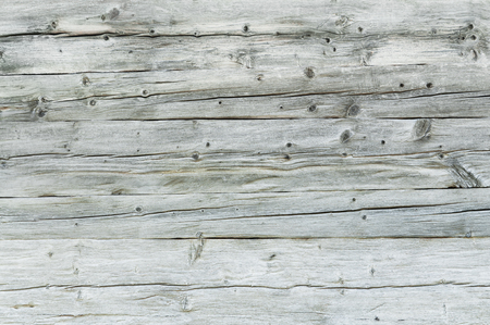 Gray, weather-beaten wooden wall for background or texture; Grunge wooden boards; Wooden surface