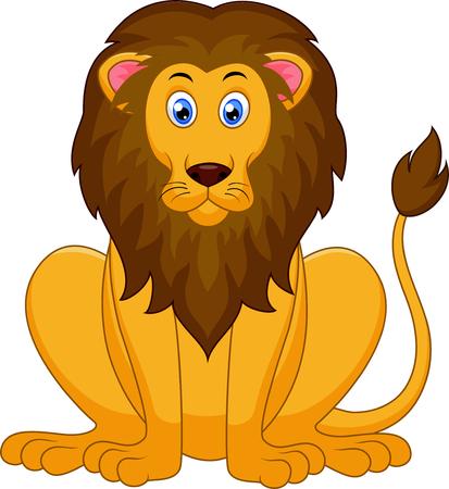 lion dessin: Bande dessinée mignonne de lion
