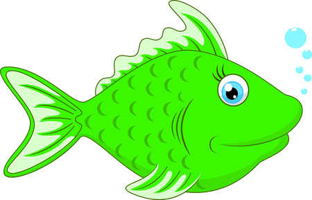 tropical fish: Cute fish cartoon Illustration
