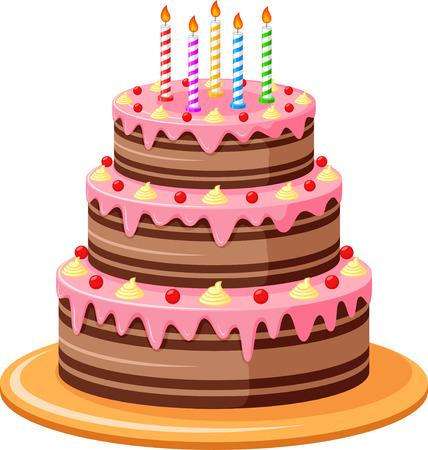 Birthday Cake Ilustração