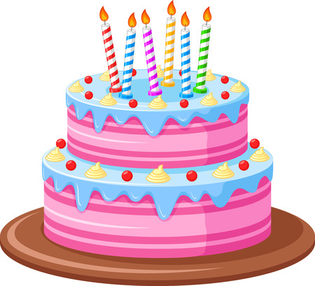 Birthday Cake Stock Vector - 45019450
