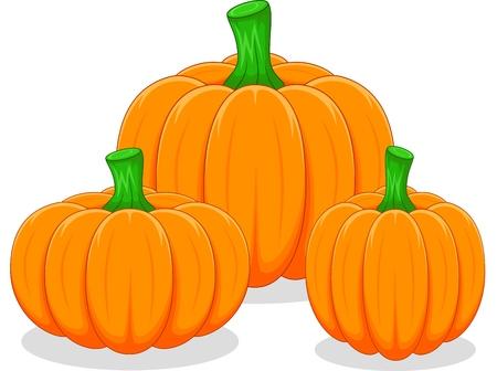 calabaza caricatura: Cartoon pumpkin Vectores