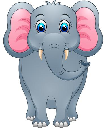 ludicrous: Cute elephant cartoon Illustration