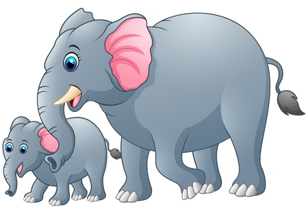 ludicrous: Mother and baby elephant