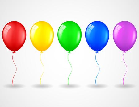 Verjaardags ballons Stock Illustratie