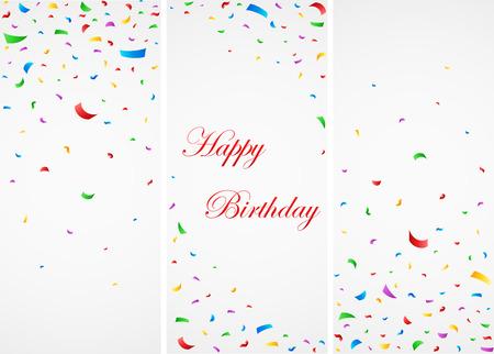 Viering van de verjaardag met kleurrijke confetti