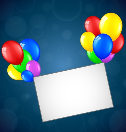 surprise party: Birthday background with blank sign