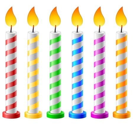 Fondo de cumpleaños con velas Ilustración de vector