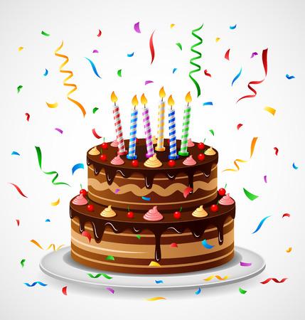 Gâteau d'anniversaire Banque d'images - 51226937