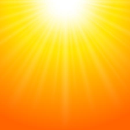 Sommer-Hintergrund mit hellen Sonne