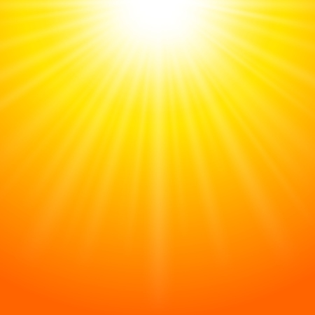 rise: Summer background with bright sun