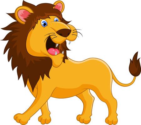 roaring: Lion cartoon roaring