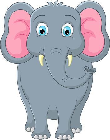 ludicrous: Cute elephant cartoon Stock Photo
