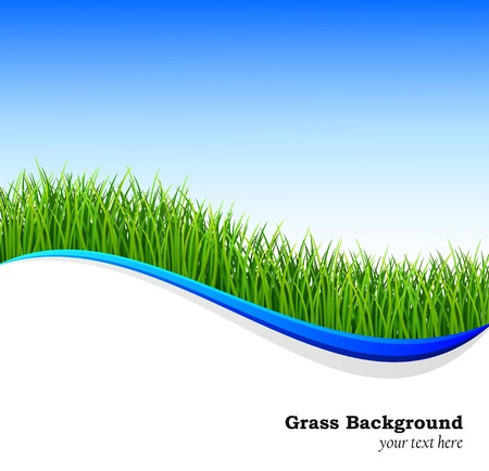 Nature background with fresh green grass Illustration