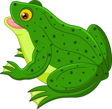 lily pad: Frog cartoon Stock Photo