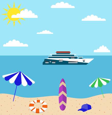 recliner: summer holiday on sea beach