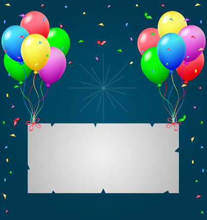 welcoming party: Birthday background with blank sign