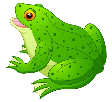 lily pads: Frog cartoon Stock Photo