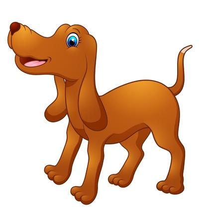 drool: Cute dog cartoon