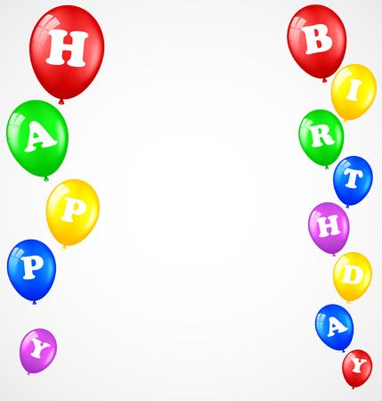 Fondo del cumpleaños con los globos