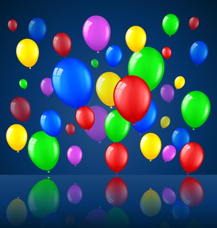 welcoming party: Birthday background with balloons
