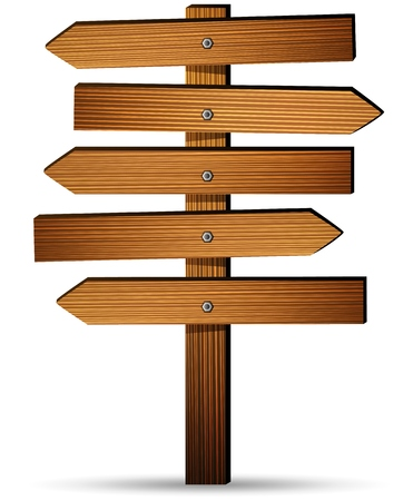 bordo Segno di legno su uno sfondo bianco