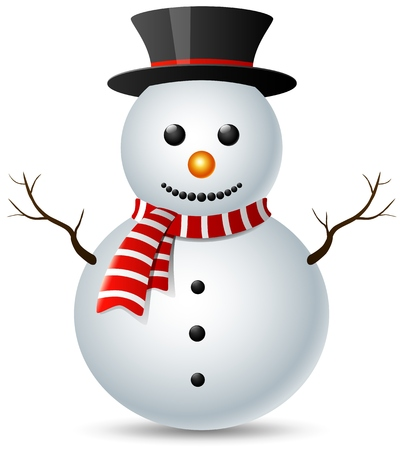 Bonhomme de neige noël isolé sur fond blanc