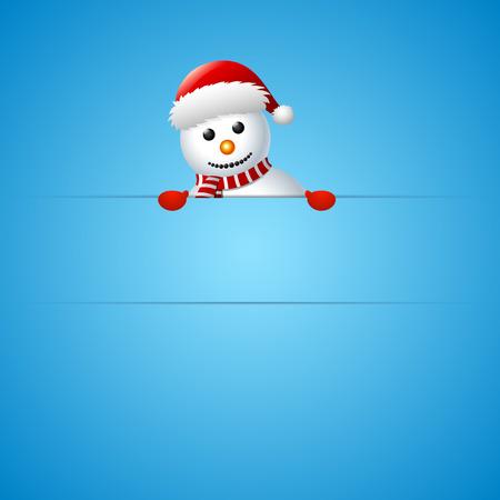 Joyeux bonhomme de neige de Noël carte de voeux