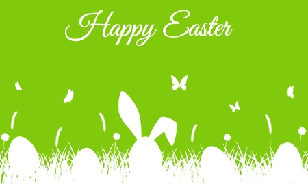 Happy easter silhouette Stock Photo