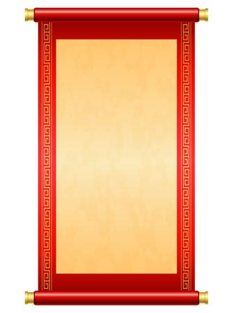 Chinese rolillustratie op witte achtergrond