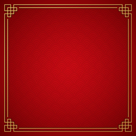 Chinese traditionele achtergrond met gouden frame Stockfoto