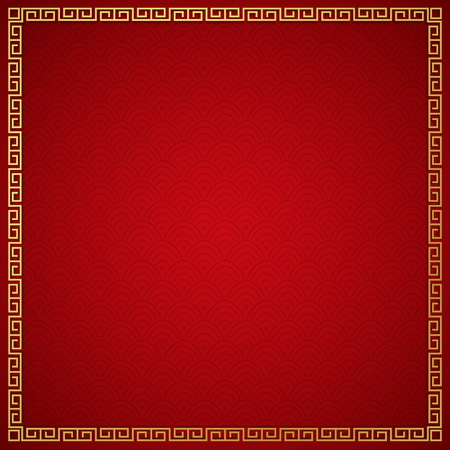Chinese traditional background with golden frame Imagens - 94796075