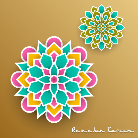 Ramadan Kareem with paper graphic of islamic Imagens - 102674954