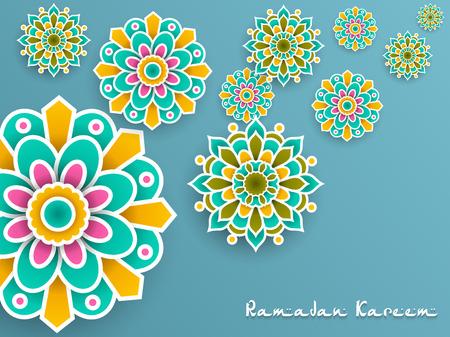 Ramadan Kareem with paper graphic of islamic decoration Imagens - 102674955