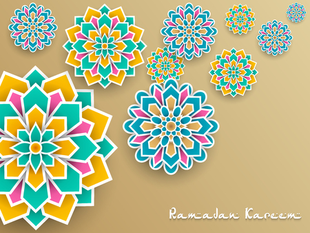 Ramadan Kareem with paper graphic of islamic decoration Imagens - 102688401