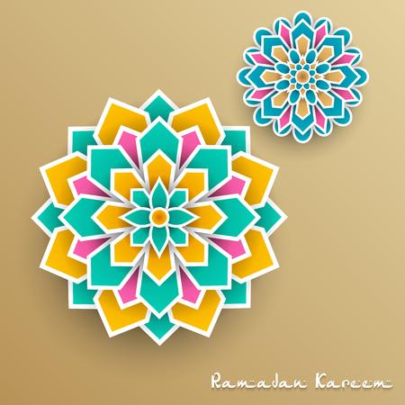 Ramadan Kareem greeting card design template Banco de Imagens
