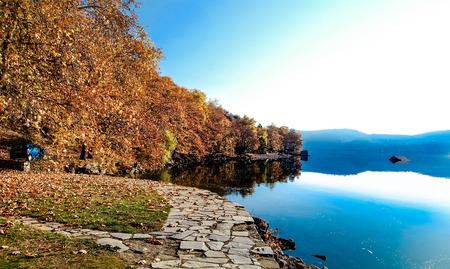Autumn lake Banco de Imagens