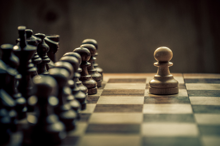 business strategy: chess game