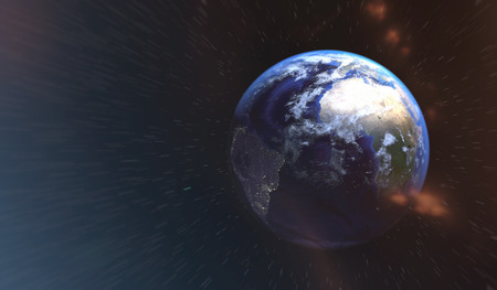 fascinating: fascinating world view from space Stock Photo
