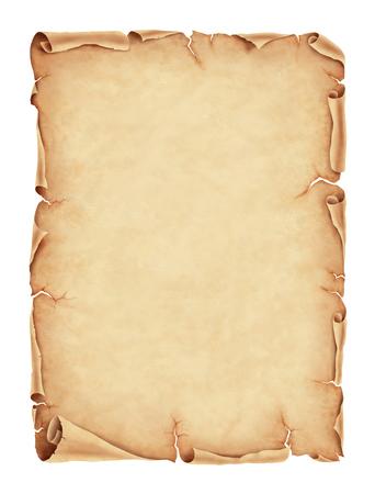 Old parchment paper illustration, digital painting