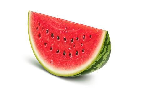 Watermelon slice illustration, digital painting
