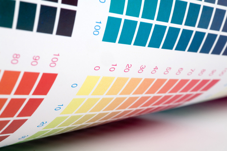 Color swatch for printing press