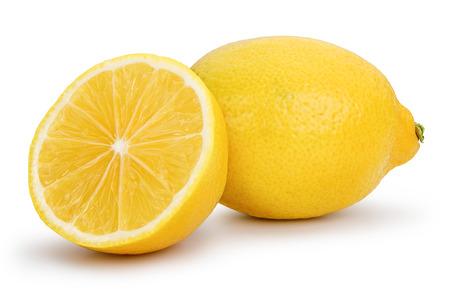 Fresh lemon isolated on white background 版權商用圖片